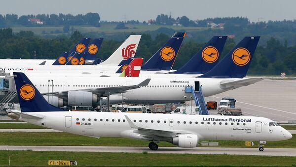 Самолеты авиакомпании Lufthansa в аэропорту Франкфурт-на-Майне. Архивное фото