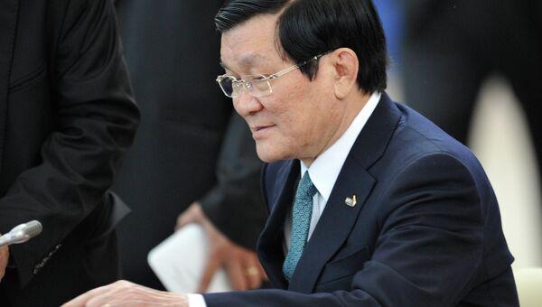 Президент Социалистической Республики Вьетнам Чыонг Тан Шанг. Архивное фото