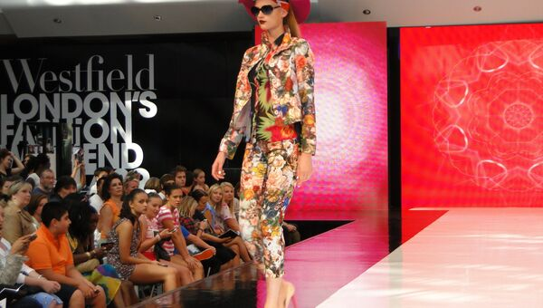 Мода Лондон показ Westfield Fashion Weekend
