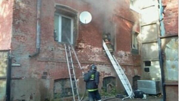 Пожар на территории цеха в подмосковном Егорьевске