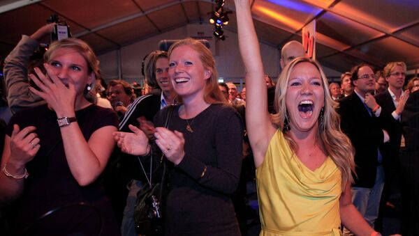 Сторонники голландской Либеральной Партии.