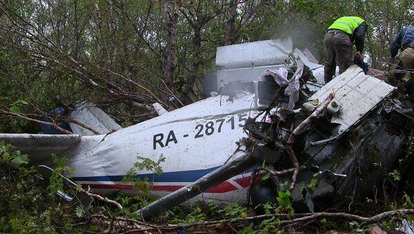 Самолет Ан-28, потерпевший крушение на Камчатке