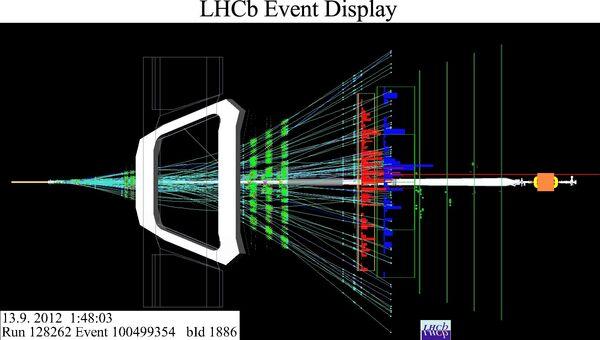 Результаты столкновений ионов свинца и протонов с точки зрения детектора LHCb
