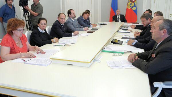 Совещание о ликвидации последствий стихийного бедствия в Крымске