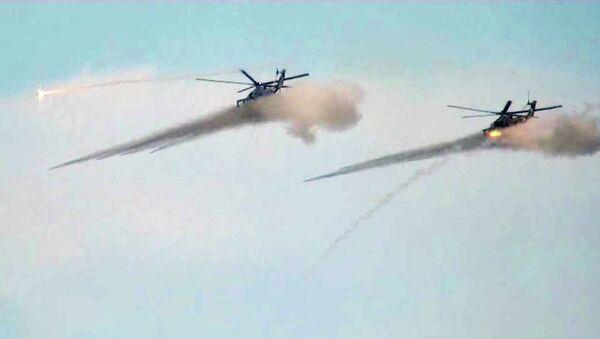 Захвативших село бандитов разгромили штурмовики Су-25 и вертолеты Ми-24