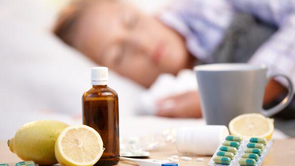 Лекарства, принимаемые во время гриппа и простуды.