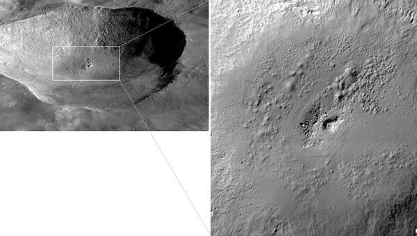 Провальные кратеры внутри ударного кратера Марция на поверхности астероида Веста