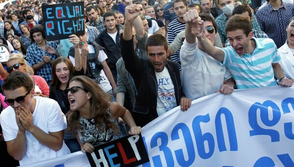 Акция студентов в Тбилиси