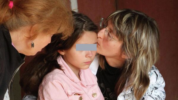 Девятилетняя Даша Попова, которая было похищена 19 сентября 2012 года у своего дома в Ростове-на-Дону.