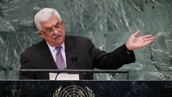 Палестинский лидер Махмуд Аббас на 67-й сессии Генассамблеи ООН