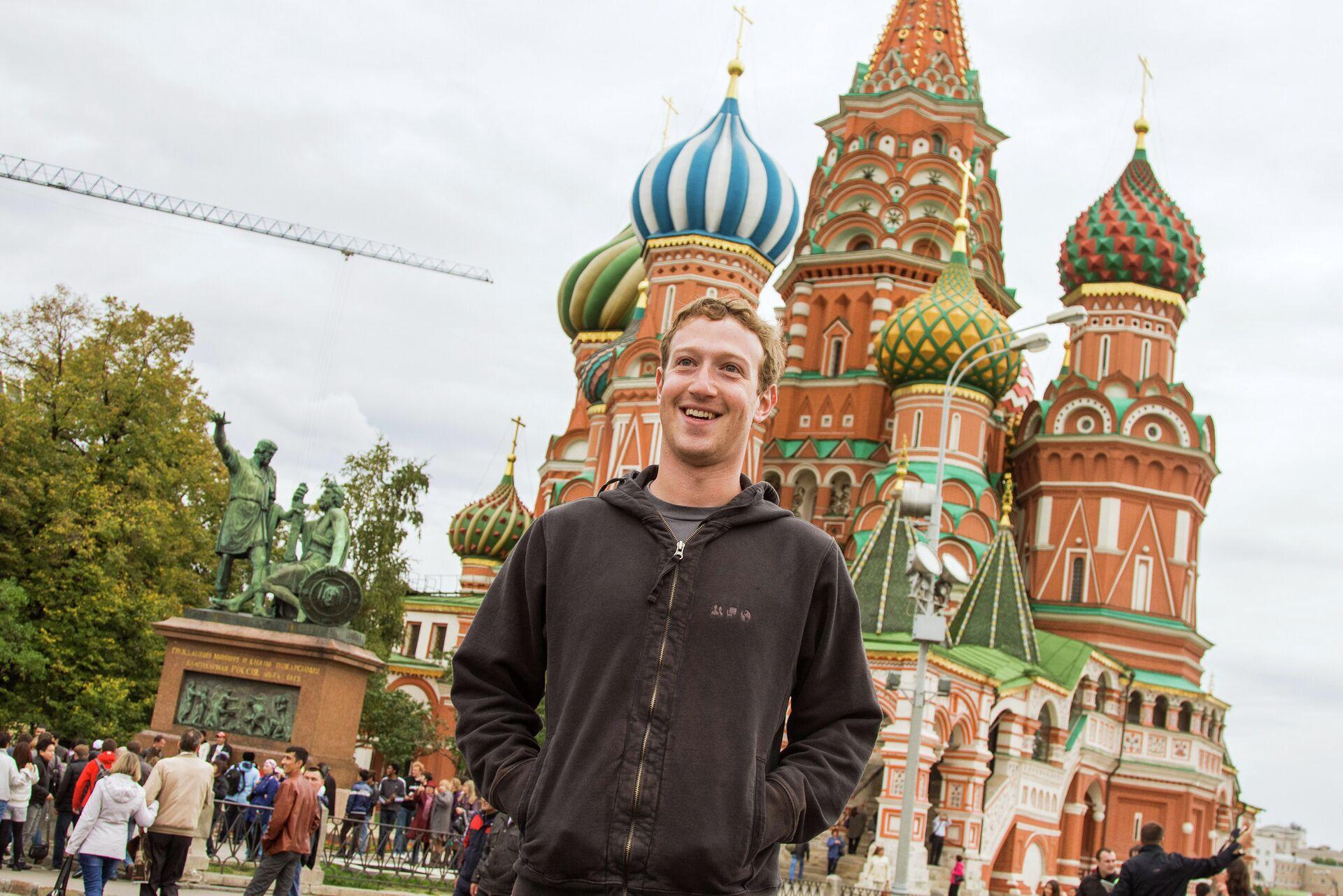 Основатель Facebook Марк Цукерберг прибыл в Москву - РИА Новости, 1920, 12.05.2021