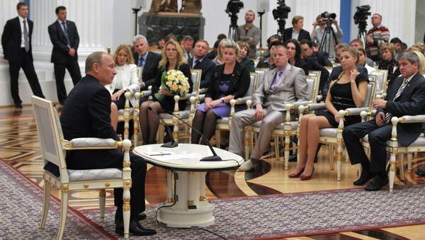 Встреча В.Путина с финалистами конкурса Учитель года -2012