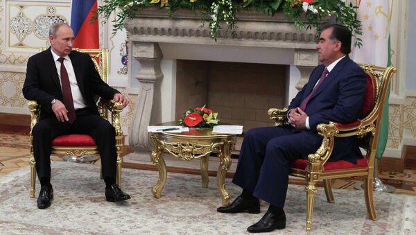 Официальный визит президента РФ В. Путина в Таджикистан