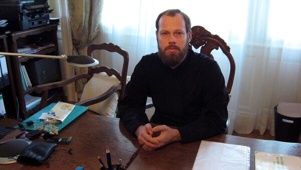 Представитель РПЦ при СЕ игумен Филипп (Рябых). Архивное фото