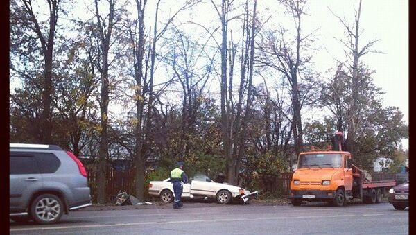 Четыре машины столкнулись на Калужском шоссе