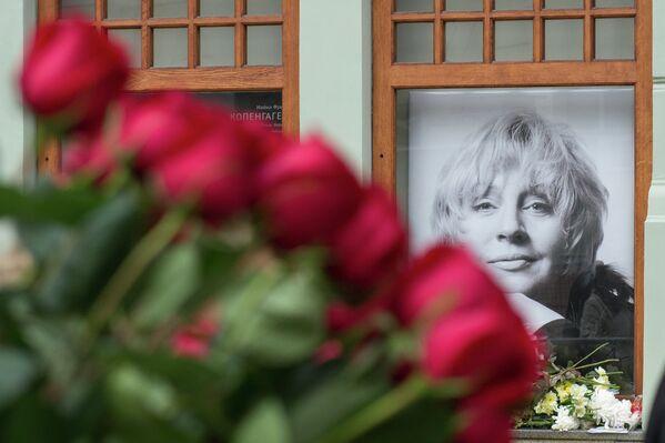 Прощание с актрисой Мариной Голуб в МХТ имени Чехова