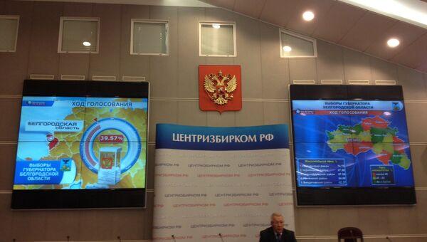 ЦИК РФ. Данные по выборам в Белгородской области