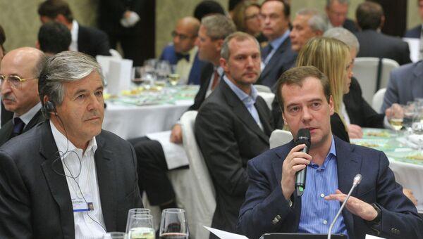 Дмитрий Медведев на выездном заседании Всемирного экономического форума