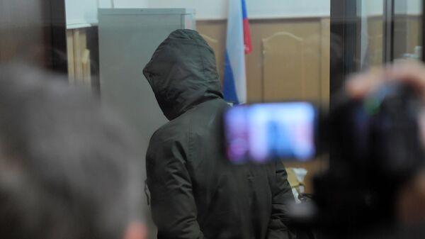 Бывший сотрудник полиции Роман Феофанов перед началом заседания Басманного суда города Москвы