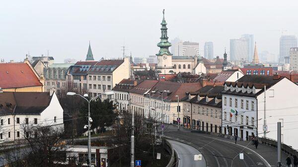 Вид на исторический центр Братиславы