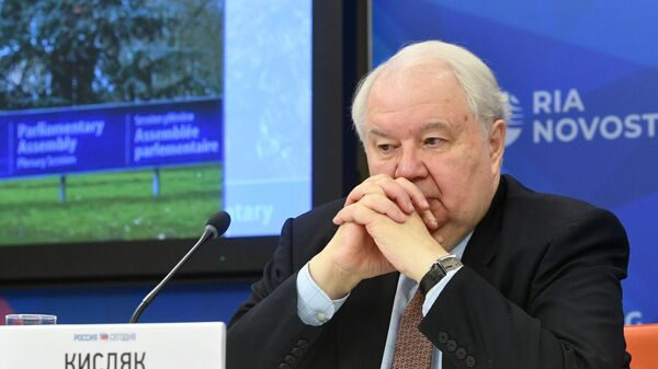 Сергей Кисляк на пресс-конференции по итогам участия российской делегации в зимней сессии ПАСЕ