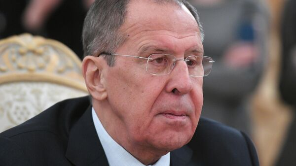 Министр иностранных дел РФ Сергей Лавров во время встречи в Москве с генеральным секретарем АСЕАН Лимом Джоком Хоем