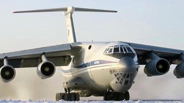 Вылет Ил-76 ВКС России в Ухань. Стоп-кадр видео Минобороны РФ