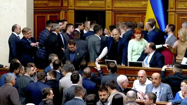 Потасовка во время заседания Верховной рады Украины. 6 февраля 2020