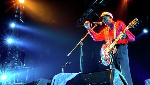 Концерт гитариста Чака Берри в Москве