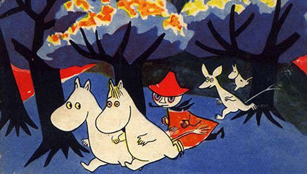 Обложка книги Туве Янсон Муми-тролль и комета