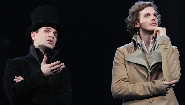 Сцена из спектакля Евгений Онегин в Театре им. Вахтангова. Архивное фото