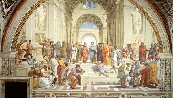 Рафаэль Санти. Фреска Древняя Греция. 1511