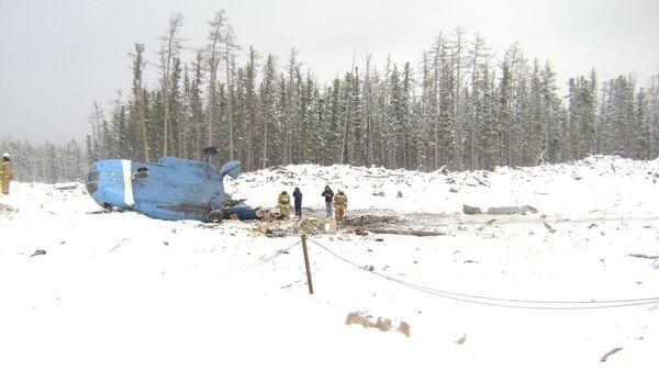 На месте крушения вертолета Ми-8 в Красноярском крае