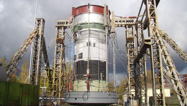 Криостатические испытания третьей ступени ракеты Ангара