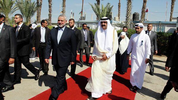 Эмир Катара Хамад Бен Халифа Аль Тани прибыл во вторник с визитом в сектор Газа