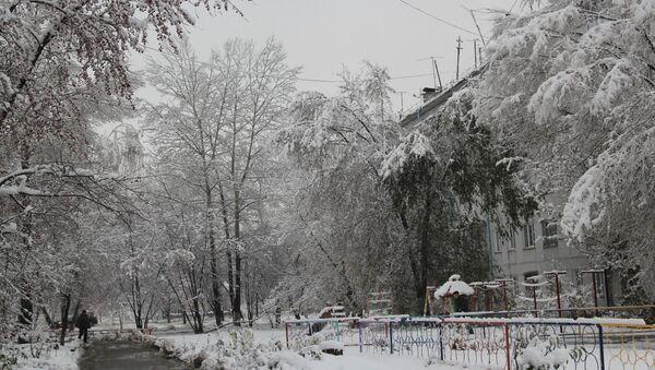Снег в Горно-Алтайске
