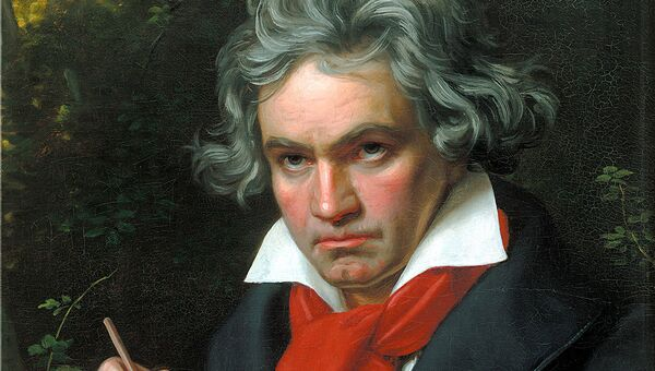 Людвиг ван Бетховен на портрете Карла Штилера 1820 г.