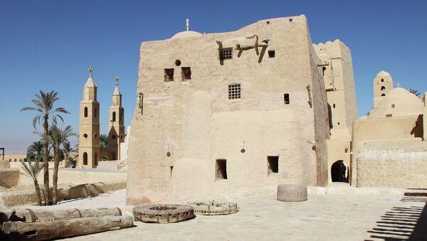 В коптском монастыре, Египет. Архивное фото