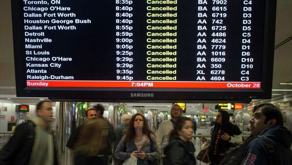 Отмененные из-за урагана Сэнди рейсы в Нью-Йорке