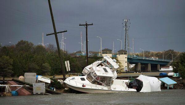 Последствия урагана Сэнди в Пойнт Плезант Бич, штат Нью-Джерси
