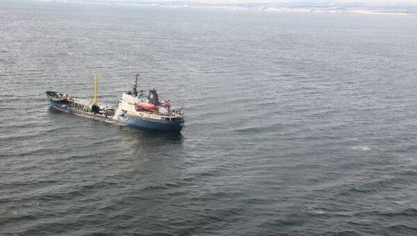 Поиски пропавшего сухогруза Амурская в Охотском море