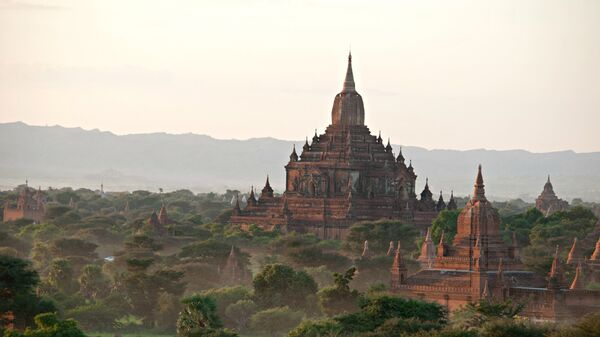 Вид на храм Баган, Мьянма. Архивное фото