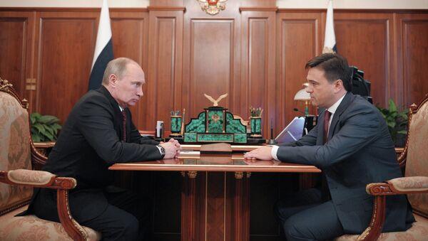 Встреча Владимира Путина с Андреем Воробьевым в Ново-Огарево