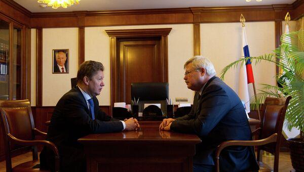 Председатель правления ОАО Газпром и губернатор Томской области