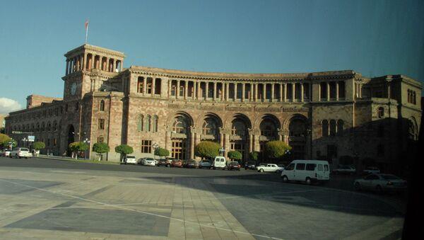 Дом правительства Армении на площади Республики. Архивное фото.