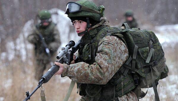 Новая боевая экипировка для военнослужащих Ратник, архивное фото