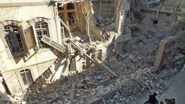 Последствия боевых действий в Хомсе, Сирия