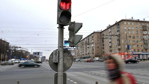 Вид на перекресток в Москве