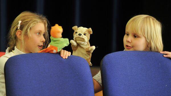 Дети в театральной студии. Архивное фото