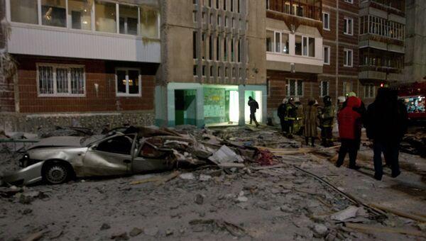 Взрыв газа в жилом доме в Томске